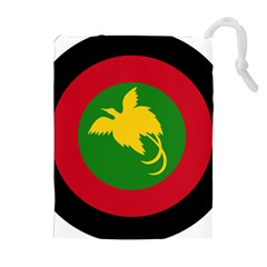 Roundel Of Papua New Guinea Air Operations Element Drawstring Pouches (extra Large)