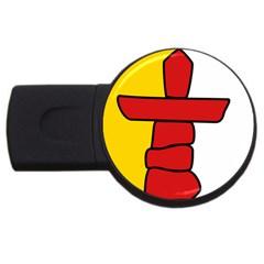 Flag Of Nunavut  Usb Flash Drive Round (4 Gb)