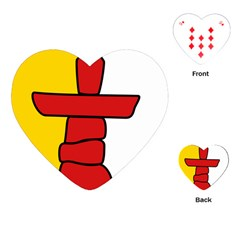 Flag Of Nunavut  Playing Cards (heart)