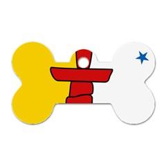 Flag Of Nunavut  Dog Tag Bone (one Side)