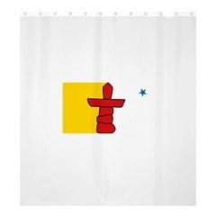 Flag Of Nunavut  Shower Curtain 66  X 72  (large)
