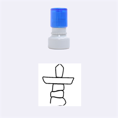 Flag Of Nunavut  Rubber Round Stamps (small)