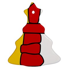Flag Of Nunavut  Christmas Tree Ornament (2 Sides)