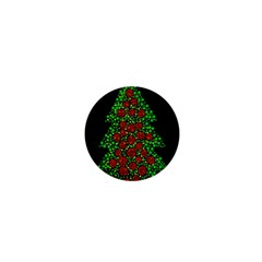 Sparkling Christmas tree 1  Mini Buttons