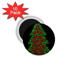 Sparkling Christmas tree 1.75  Magnets (10 pack)