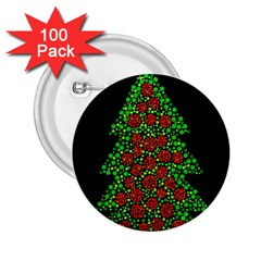 Sparkling Christmas tree 2.25  Buttons (100 pack)