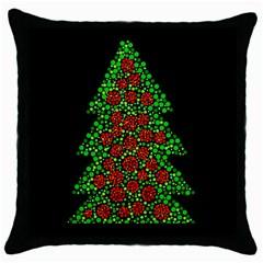 Sparkling Christmas tree Throw Pillow Case (Black)