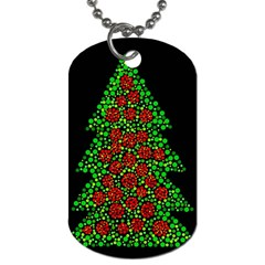 Sparkling Christmas tree Dog Tag (One Side)