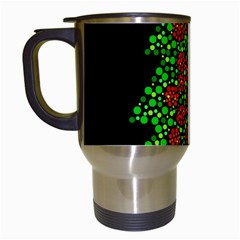 Sparkling Christmas tree Travel Mugs (White)