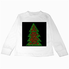 Sparkling Christmas tree Kids Long Sleeve T-Shirts