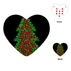 Sparkling Christmas tree Playing Cards (Heart)