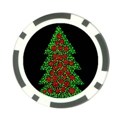 Sparkling Christmas tree Poker Chip Card Guards (10 pack)