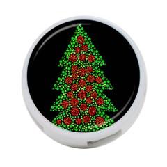 Sparkling Christmas tree 4-Port USB Hub (One Side)