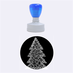 Sparkling Christmas tree Rubber Round Stamps (Medium)