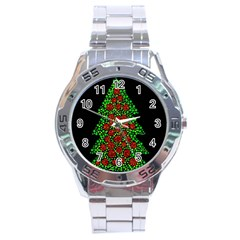 Sparkling Christmas tree Stainless Steel Analogue Watch