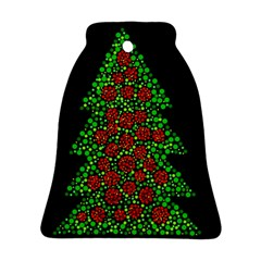 Sparkling Christmas tree Bell Ornament (2 Sides)