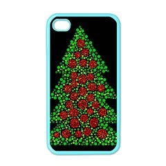Sparkling Christmas tree Apple iPhone 4 Case (Color)