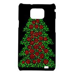Sparkling Christmas tree Samsung Galaxy S2 i9100 Hardshell Case
