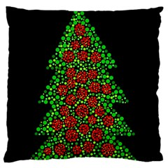 Sparkling Christmas tree Large Cushion Case (Two Sides)