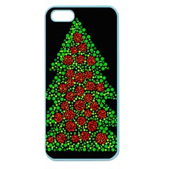 Sparkling Christmas tree Apple Seamless iPhone 5 Case (Color)