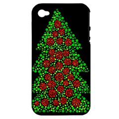 Sparkling Christmas tree Apple iPhone 4/4S Hardshell Case (PC+Silicone)