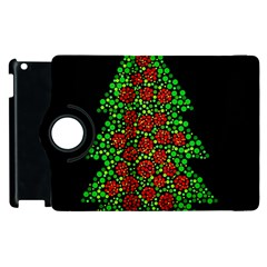 Sparkling Christmas tree Apple iPad 2 Flip 360 Case