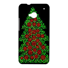 Sparkling Christmas tree HTC One M7 Hardshell Case