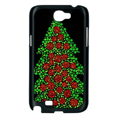 Sparkling Christmas tree Samsung Galaxy Note 2 Case (Black)