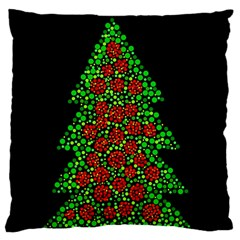 Sparkling Christmas Tree Standard Flano Cushion Case (two Sides)