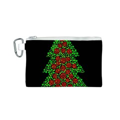 Sparkling Christmas tree Canvas Cosmetic Bag (S)