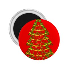 Sparkling Christmas Tree   Red 2 25  Magnets