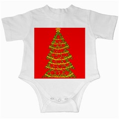 Sparkling Christmas tree - red Infant Creepers