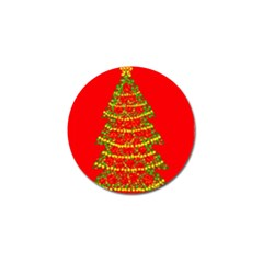 Sparkling Christmas tree - red Golf Ball Marker (10 pack)
