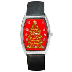 Sparkling Christmas tree - red Barrel Style Metal Watch