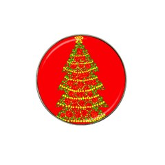 Sparkling Christmas tree - red Hat Clip Ball Marker (4 pack)