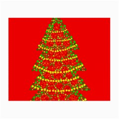 Sparkling Christmas tree - red Small Glasses Cloth