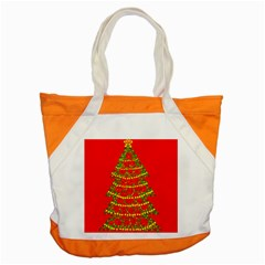 Sparkling Christmas tree - red Accent Tote Bag