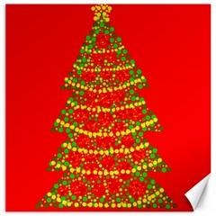 Sparkling Christmas tree - red Canvas 12  x 12