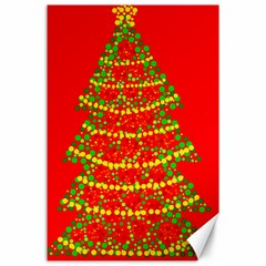 Sparkling Christmas tree - red Canvas 24  x 36