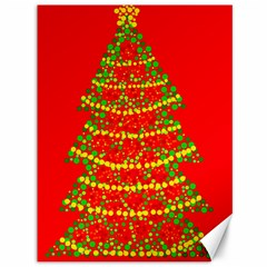 Sparkling Christmas tree - red Canvas 36  x 48