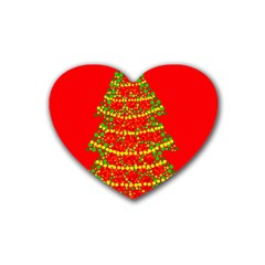 Sparkling Christmas tree - red Heart Coaster (4 pack)