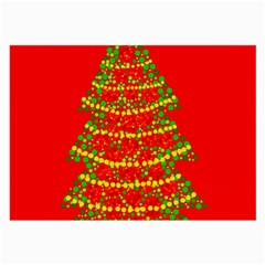 Sparkling Christmas tree - red Large Glasses Cloth (2-Side)