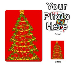 Sparkling Christmas tree - red Multi-purpose Cards (Rectangle)