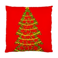 Sparkling Christmas tree - red Standard Cushion Case (One Side)