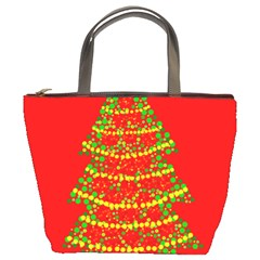 Sparkling Christmas tree - red Bucket Bags