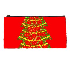 Sparkling Christmas tree - red Pencil Cases
