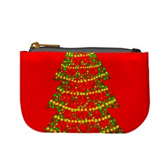 Sparkling Christmas tree - red Mini Coin Purses