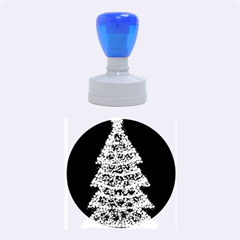 Sparkling Christmas tree - red Rubber Round Stamps (Medium)