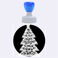 Sparkling Christmas tree - red Rubber Round Stamps (Large)