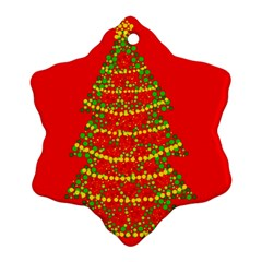 Sparkling Christmas tree - red Ornament (Snowflake)
